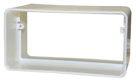 Соединитель для плоских воздуховодов пластиковый 55х110 мм