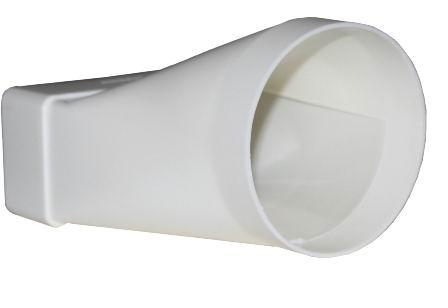 Соединитель эксцентриковый пластиковый для плоских воздуховодов 55х110 мм с круглыми d100 мм