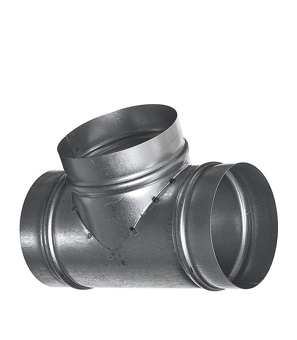 Тройник для круглых воздуховодов оцинкованный d100 мм 90° профиль оцинкованный для теплиц