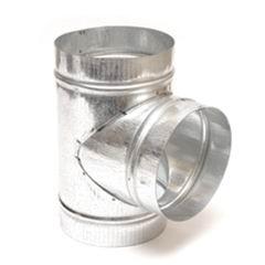 Тройник для круглых воздуховодов оцинкованный d125 мм, 90°