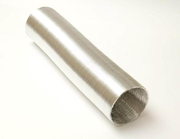 Воздуховод гибкий алюминиевый гофрированный d100 мм х 3 м Алювент Стандарт