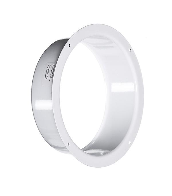 Фланец для круглых воздуховодов стальной белый d125 мм фланец круглый пвх диам 125 вентиляция