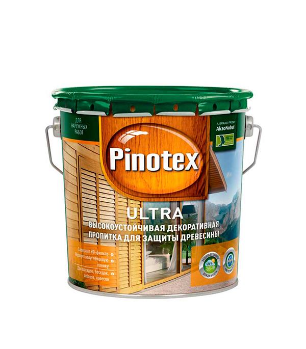 Декоративно-защитная пропитка для древесины Pinotex Ultra белый 2.7 л пинотекс ultra антисептик орех 1 л