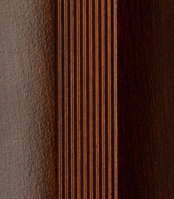 Порог стыкоперекрывающий 40х1800 мм с дюбелем венге