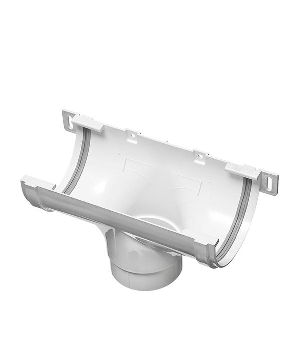 Воронка желоба пластиковая центральная  d90 белая, уплотнитель VINYL-ON
