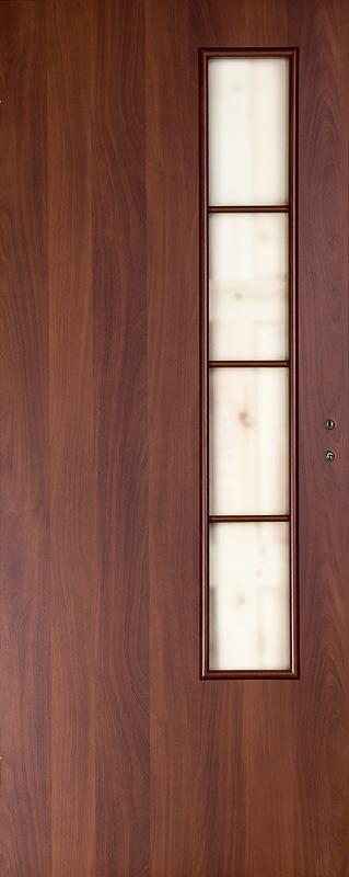 Дверное полотно ДПО 05 Верда Итальянский орех 9М, 800х2000 мм, без притвора со стеклом