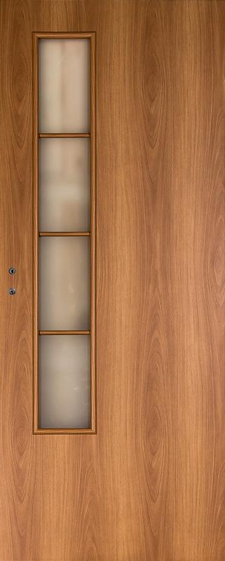Дверное полотно ДПО 05 Верда Миланский орех 9М, 800х2000 мм, без притвора со стеклом
