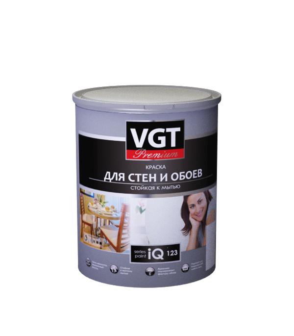 Краска в/д моющаяся для обоев и стен iQ123 основа А глубокоматовая VGT 0,8 л