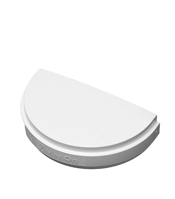 Заглушка желоба Vinyl-On пластиковая универсальная белая угол желоба внутренний grand line 125 90° красное вино металлический