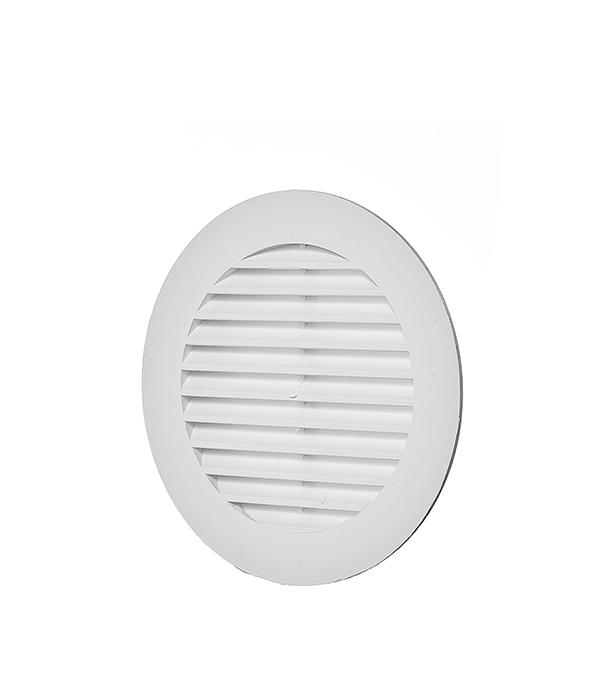 Решетка вентиляционная наружная круглая пластиковая d130 мм c фланцем d100 мм