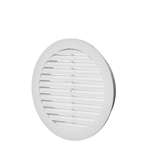Решетка вентиляционная наружная круглая пластиковая d150 мм c фланцем d125 мм