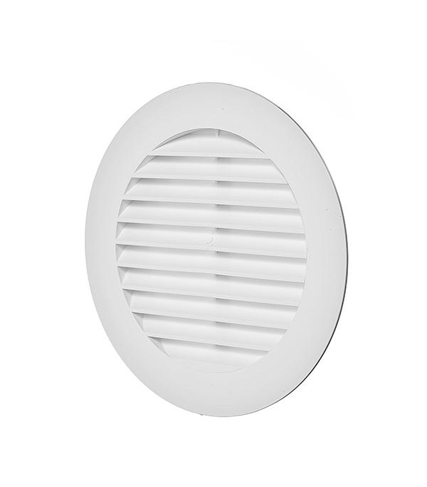 Решетка вентиляционная наружная круглая пластиковая d200 мм c фланцем d150 мм
