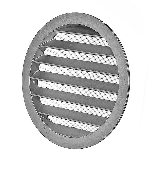 Решетка вентиляционная наружная круглая алюминиевая d185 мм c фланцем d160 мм
