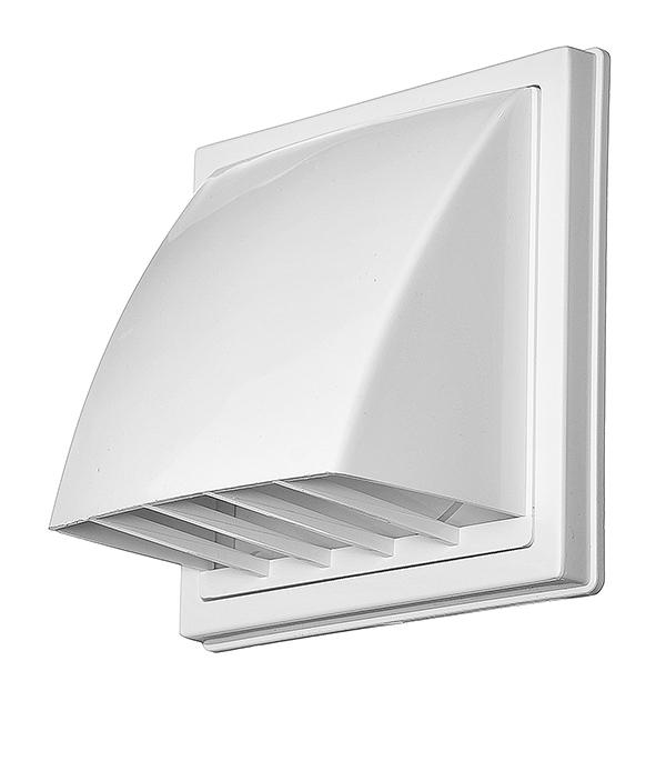 Выход вентиляционный стенной пластиковый с обратным клапаном и с фланцем d100 мм