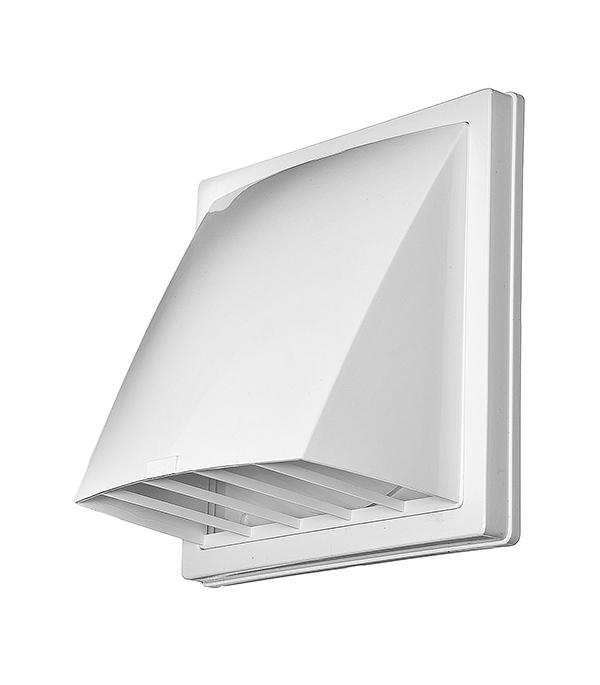 Вентиляционный выход стенной пластиковый с обратным клапаном и с фланцем d125 мм