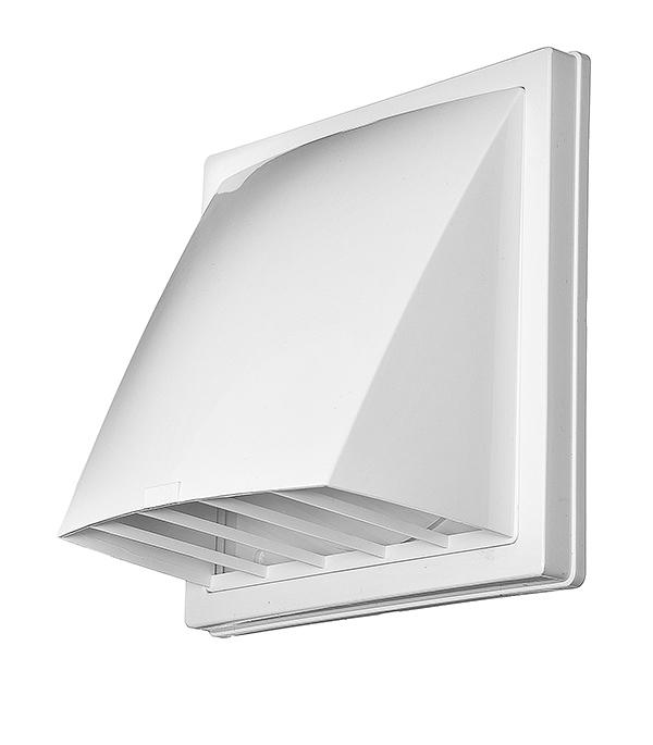 Выход вентиляционный стенной пластиковый с обратным клапаном и с фланцем d160 мм