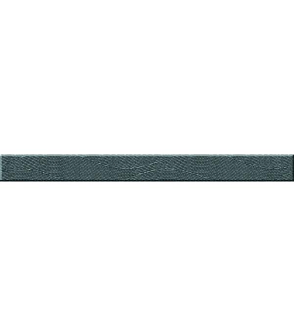 Плитка бордюр Wave Black Flowers 440х40 мм керамическая плитка cersanit wave спецэлемент стеклянный синий wa7h121 4х44