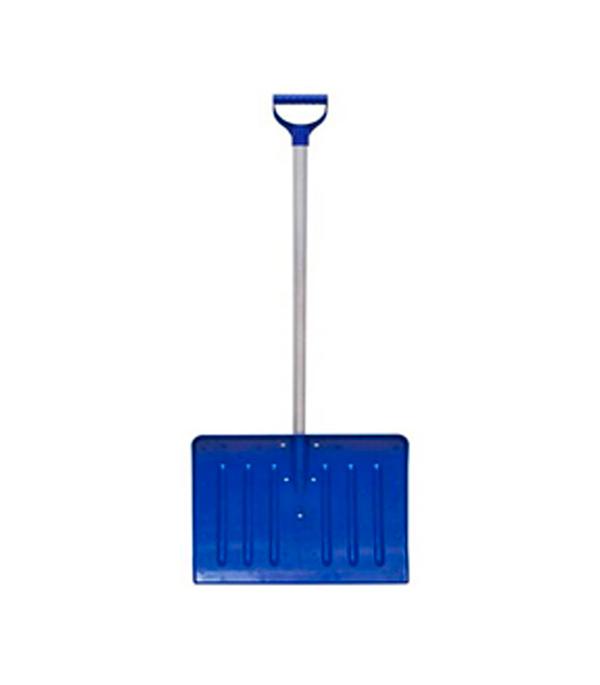 Лопата снеговая пластиковая с алюминиевым черенком 420х460х1350 мм мини лопата штыковая truper с черенком 69 см