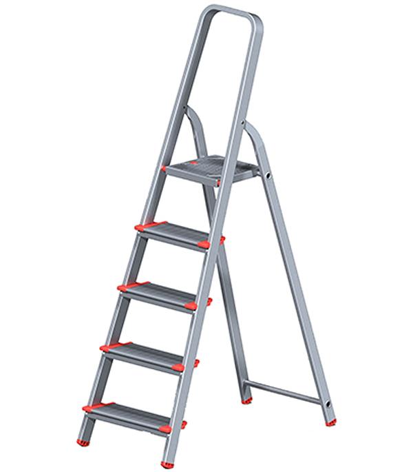 Стремянка Новая высота алюминиевая усиленная 5 ступеней стремянка новая высота nv 312 2x3 3120203