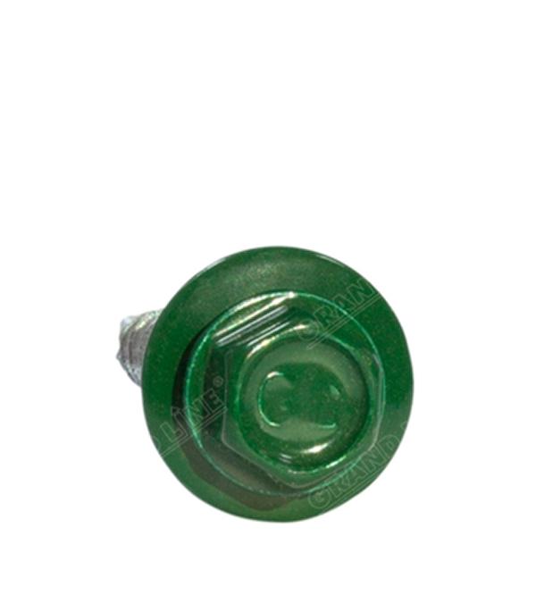 Саморезы кровельные с буром, 19х5,5 мм зелёные RAL 6005 (250 шт) сталь Тайвань