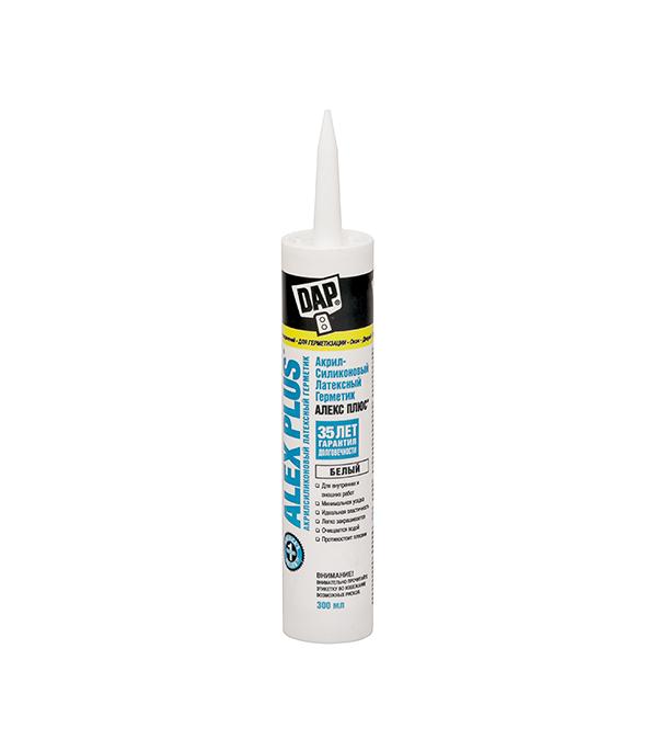 Герметик силиконовый DAP Аlex Plus нейтральный 300 мл белый