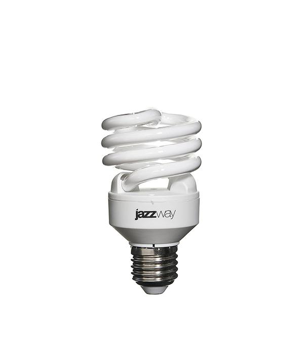 Лампа энергосберегающая E27, 20W, Spiral , 4000K (холодный свет), Jazzway