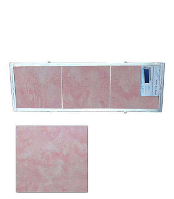 Экран для ванн Оптима пластик розовый мороз 1500 мм