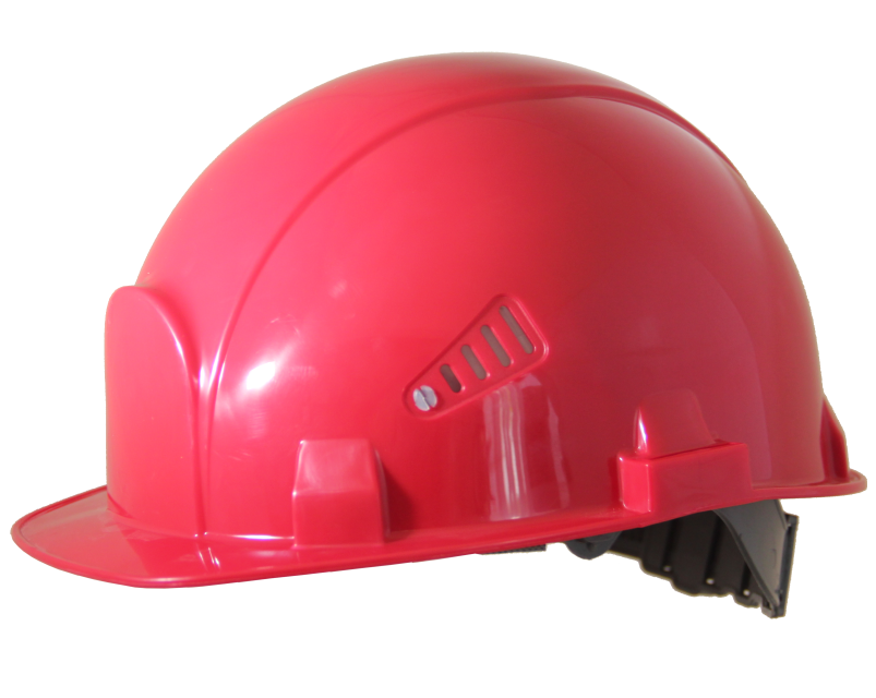 Каска строительная красная Росомз Стандарт