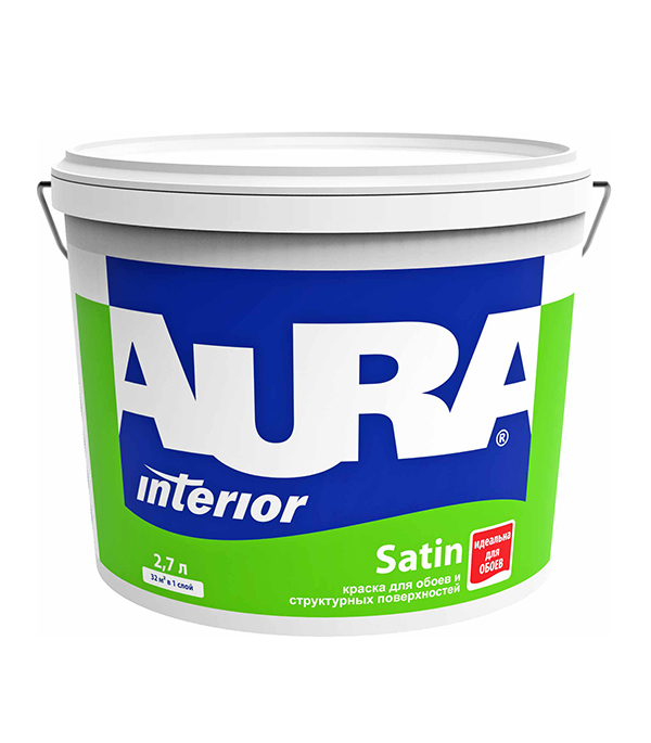 Краска в/д для обоев Interior Aura Satin основа A 2,7 л
