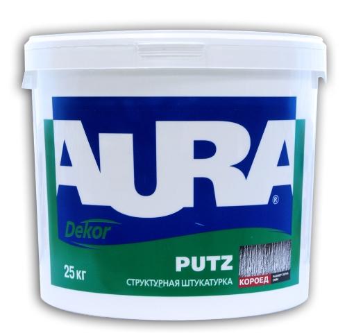"Штукатурка структурная Aura Putz ""короед"" фракция 2,0 мм 25 кг"