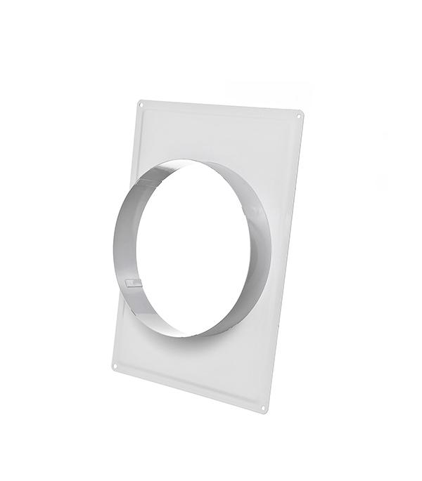 Соединитель для круглых воздуховодов стальной белый 195х238 мм с фланцем d150 мм