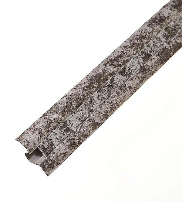 Плинтус с к/к и мягким краем, серый мрамор 5017, 50х23х2500 мм