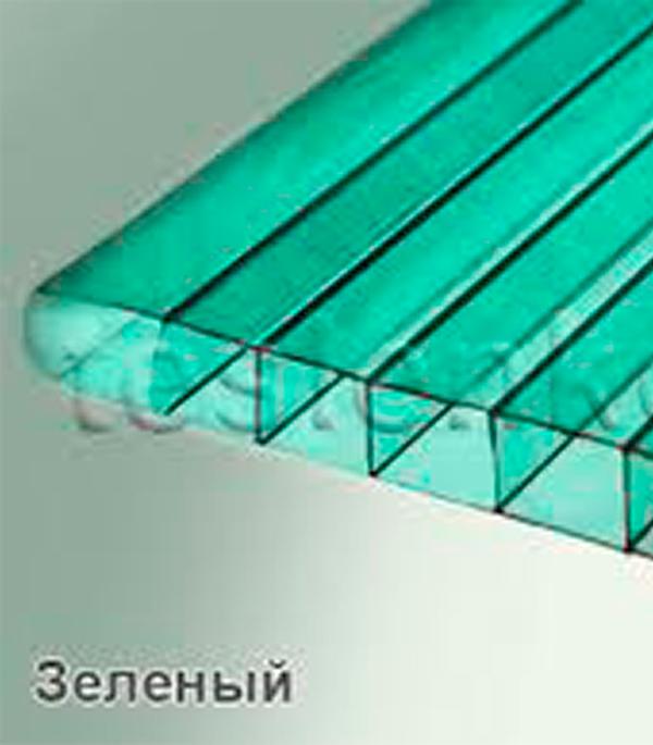 Поликарбонат сотовый зеленый 2100х6000х3,5 мм для теплиц