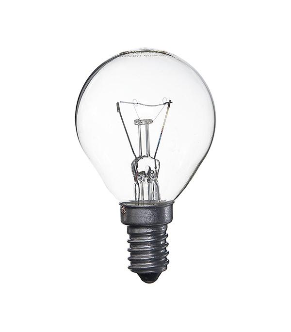 Лампа накаливания E14, 40W, Р45 (шар), CL (прозрачная) Philips