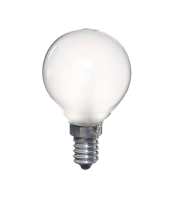 Лампа накаливания Philips E14 40W Р45 шар FR матовая