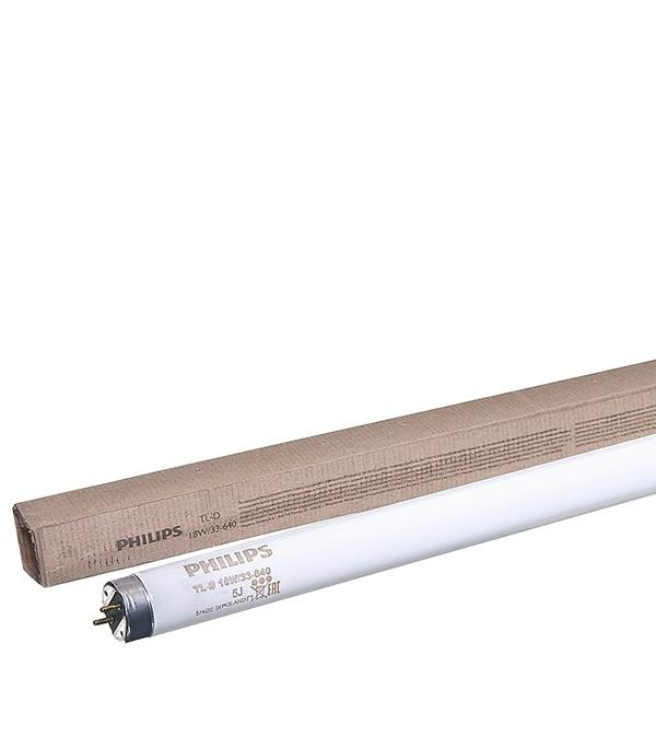 Лампа люминесцентная 18W/640 (холодный свет), d26 (Т8), G13, 590 мм, Philips, TL-D