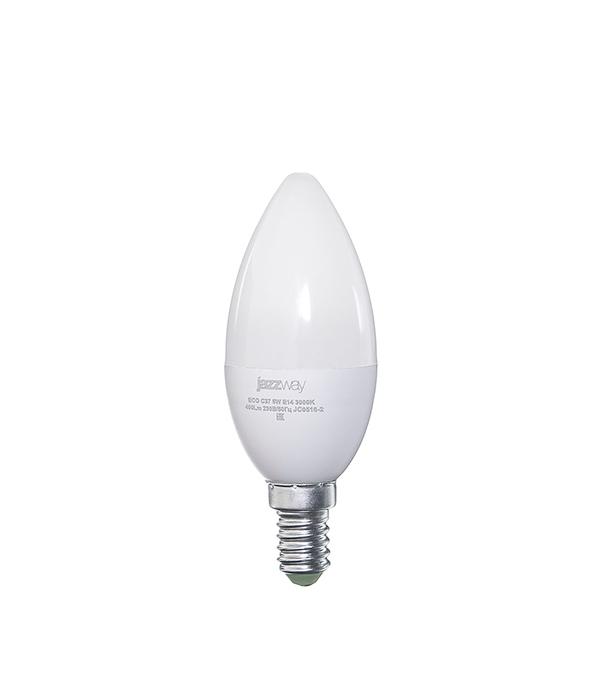 Лампа светодиодная E14 5W C37 3000K Jazzway
