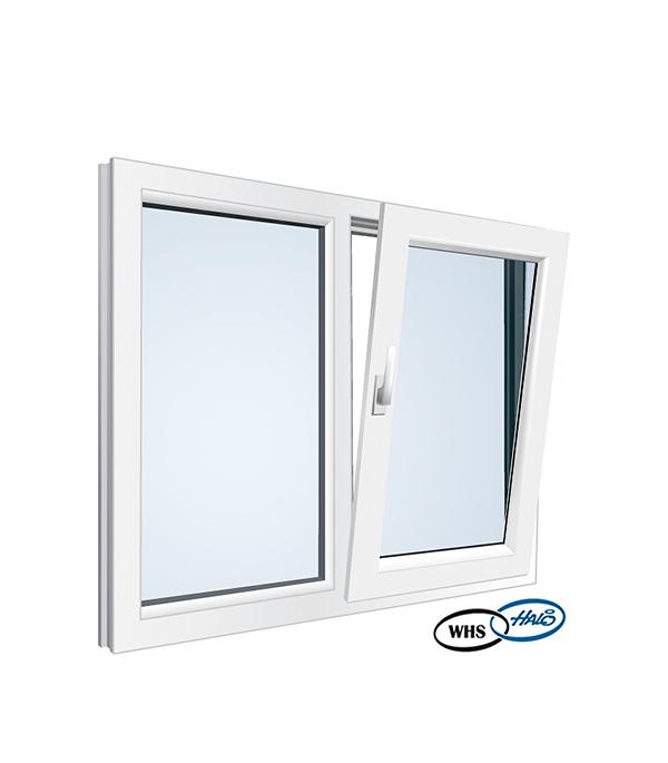Окно металлопластиковое WHS 1160х1000 мм белое поворотно - откидное правое