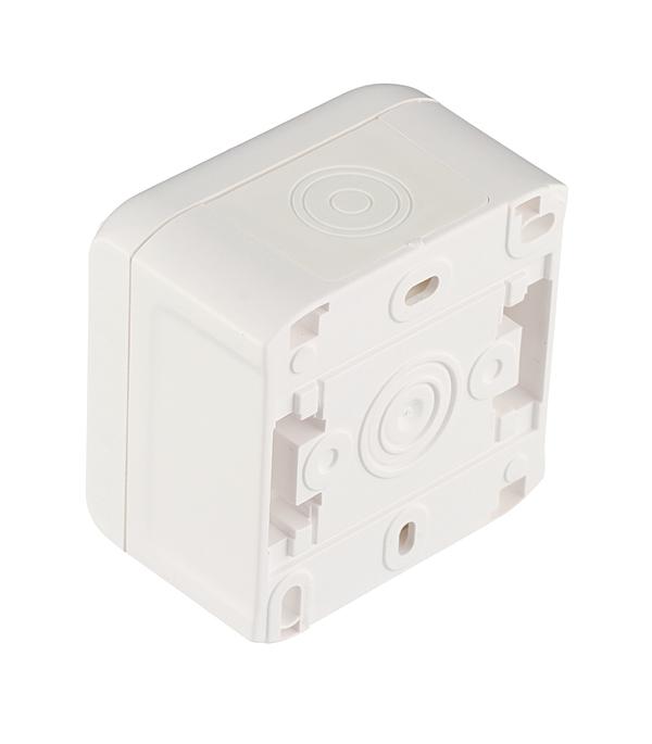 Выключатель одноклавишный о/у влагозащищенный (IP 44) Legrand Quteo белый