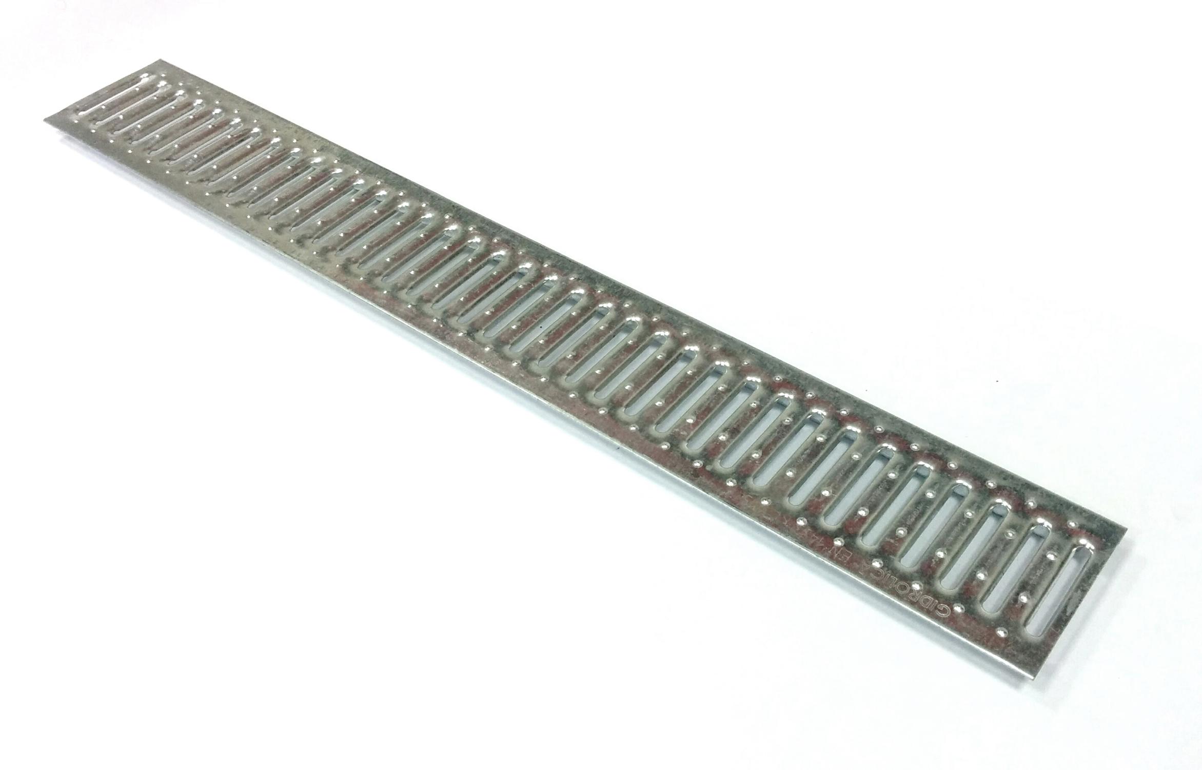 Решетка водоприемная, 1000х136 мм, стальная оцинкованная Гидролика