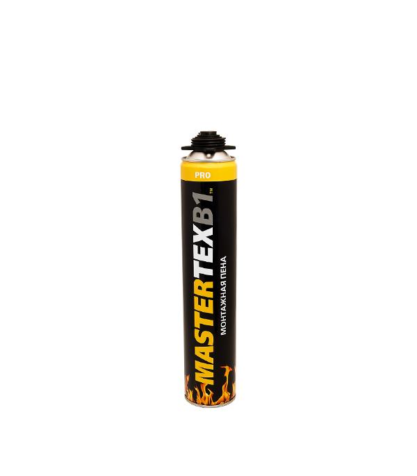 Пена монтажная MasterTeks B1 огнеупорная профессиональная 750 мл пена монтажная tytan огнестойкая в1 750 мл