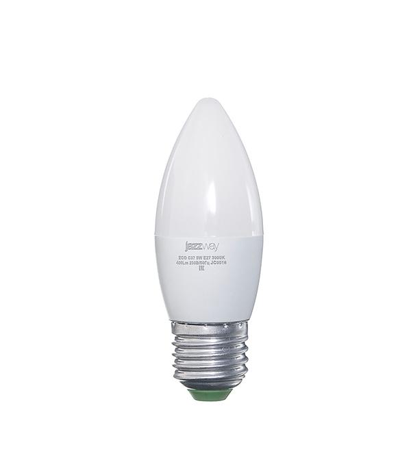 Лампа светодиодная E27 5W C37 3000K Jazzway