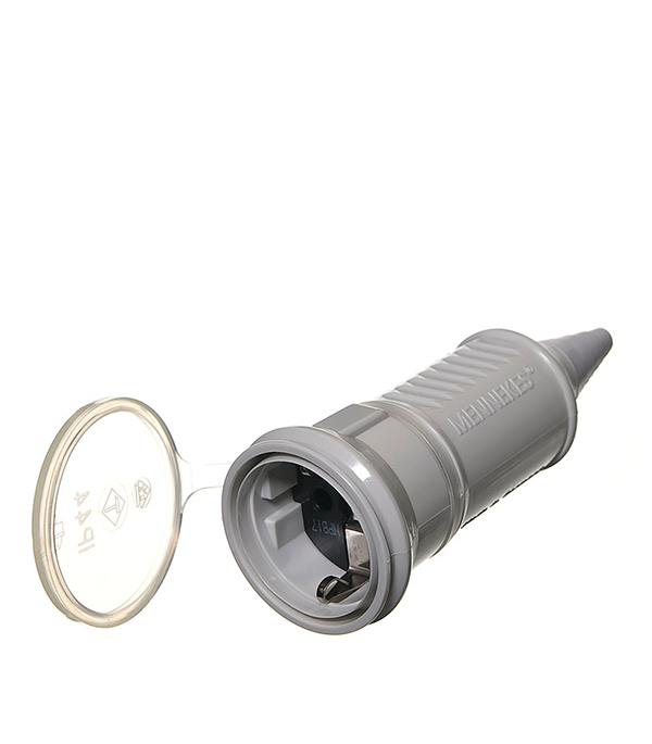 Розетка бытовая Mennekes 230В 2Р 16А IP44 трехместная розетка с заглушками каучук tdm 2р ре 16а 250в ip44 sq0612 0008