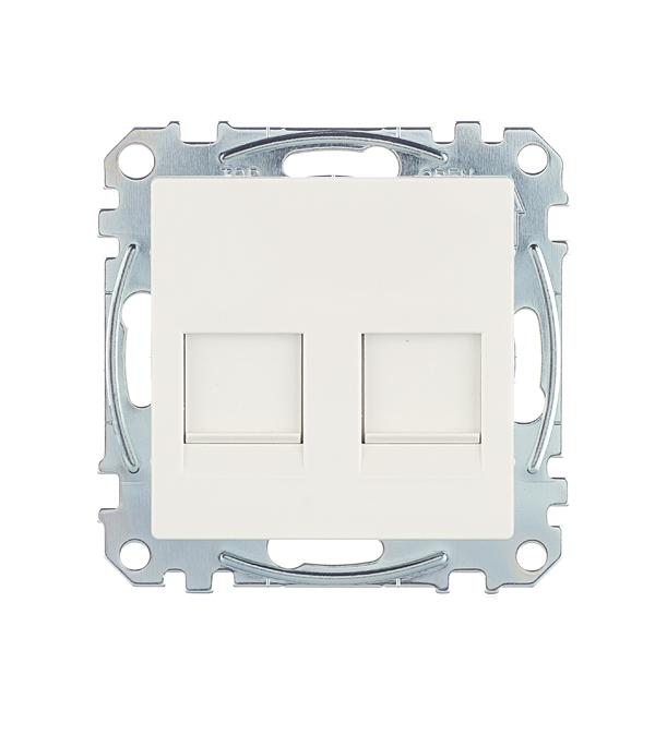 Механизм розетки компьютерной+ розетки телефонной с/у Schneider Electric M-TREND белый