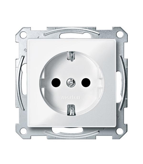 Механизм розетки с/у с заземлением Schneider Electric M-TREND белый