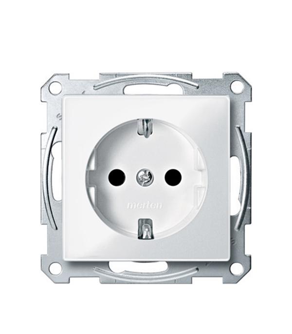 Механизм розетки с/у с заземлением со шторками Schneider Electric M-TREND белый