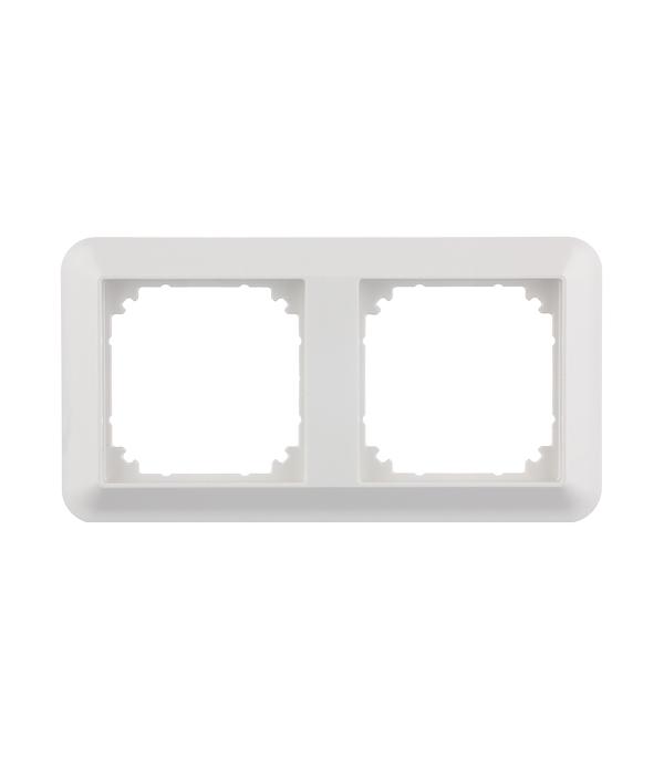 Рамка двухместная Schneider Electric M-TREND белая schneider merten m elegance стекло белое рамка 2 я mtn404219