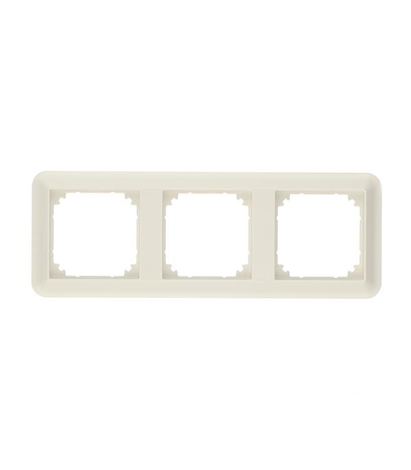 Рамка трехместная Schneider Electric M-TREND белая schneider merten m elegance стекло белое рамка 2 я mtn404219