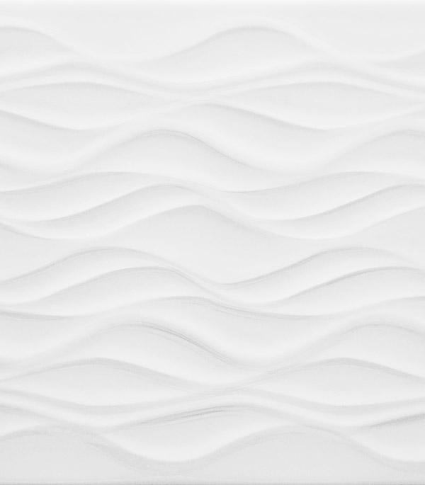 """Плитка облицовочная 280х400х8 мм Орхидея белый рельеф (11шт=1,232 кв.м.) от Строительный Торговый Дом """"Петрович"""""""