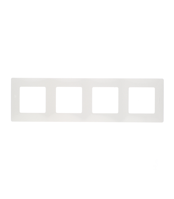 Рамка четырехместная универсальная  Legrand Etika белая ключ блокировки для розеток legrand 50299